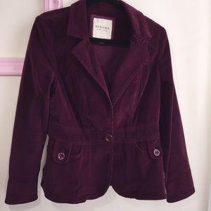 Sonoma blazer, corduroy,peplum skirt, front pocket